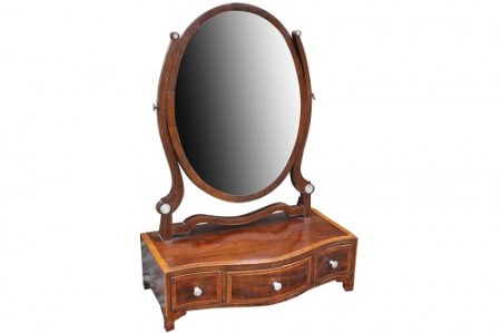 390 Mahog Serpentine Mirror £350