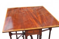 397 George III Mahog Satin Table £680 2