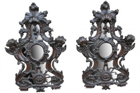 427 Pair of Baroque Walnut mirrors £1250 1