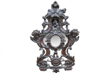 427 Pair of Baroque Walnut mirrors £1250 2