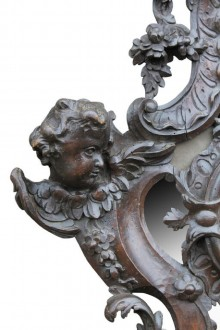 427 Pair of Baroque Walnut mirrors £1250 3