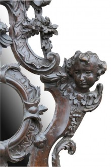 427 Pair of Baroque Walnut mirrors £1250 4